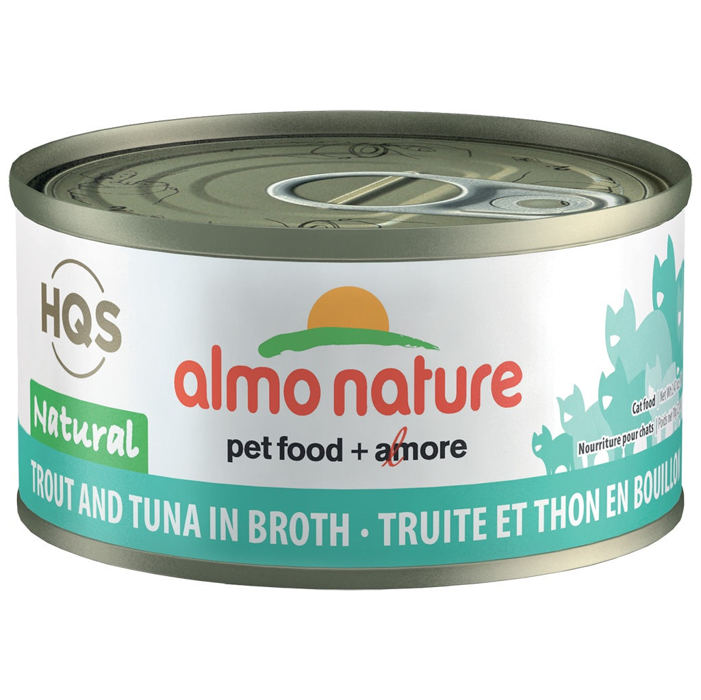 Almo Complete Nature Trout and Tuna in Broth 2.47oz