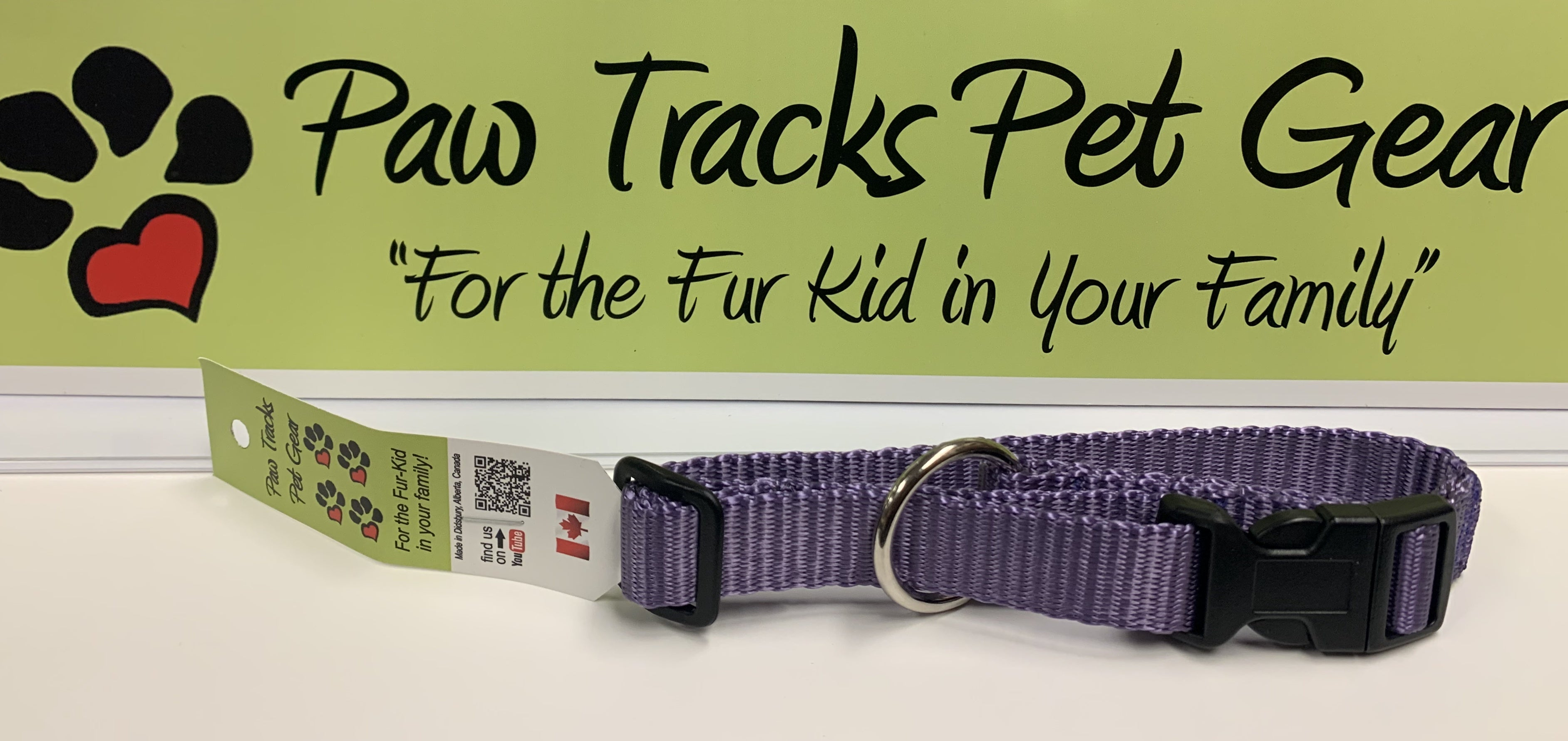 "3/4"" Dog Collar (9-14"") - Purple"