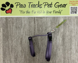 Small Adjustable Cat Harness - Purple