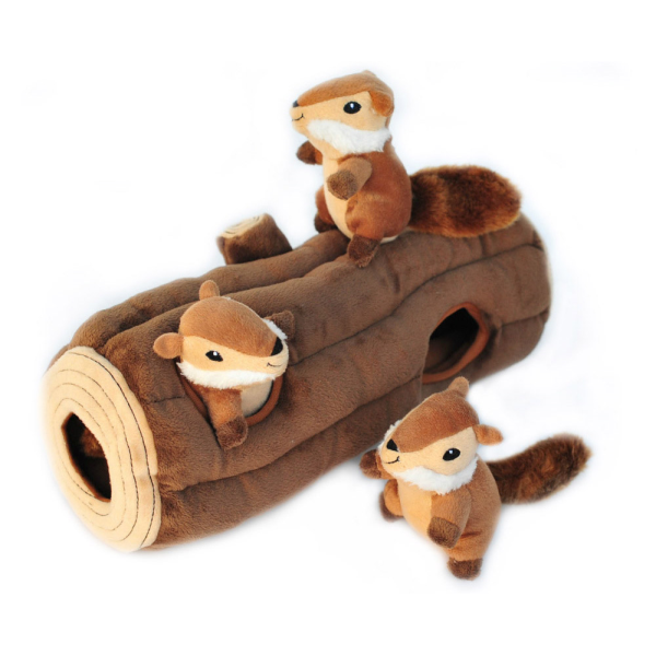 ZippyPaws Burrow Squeaker Toy Burrow Log