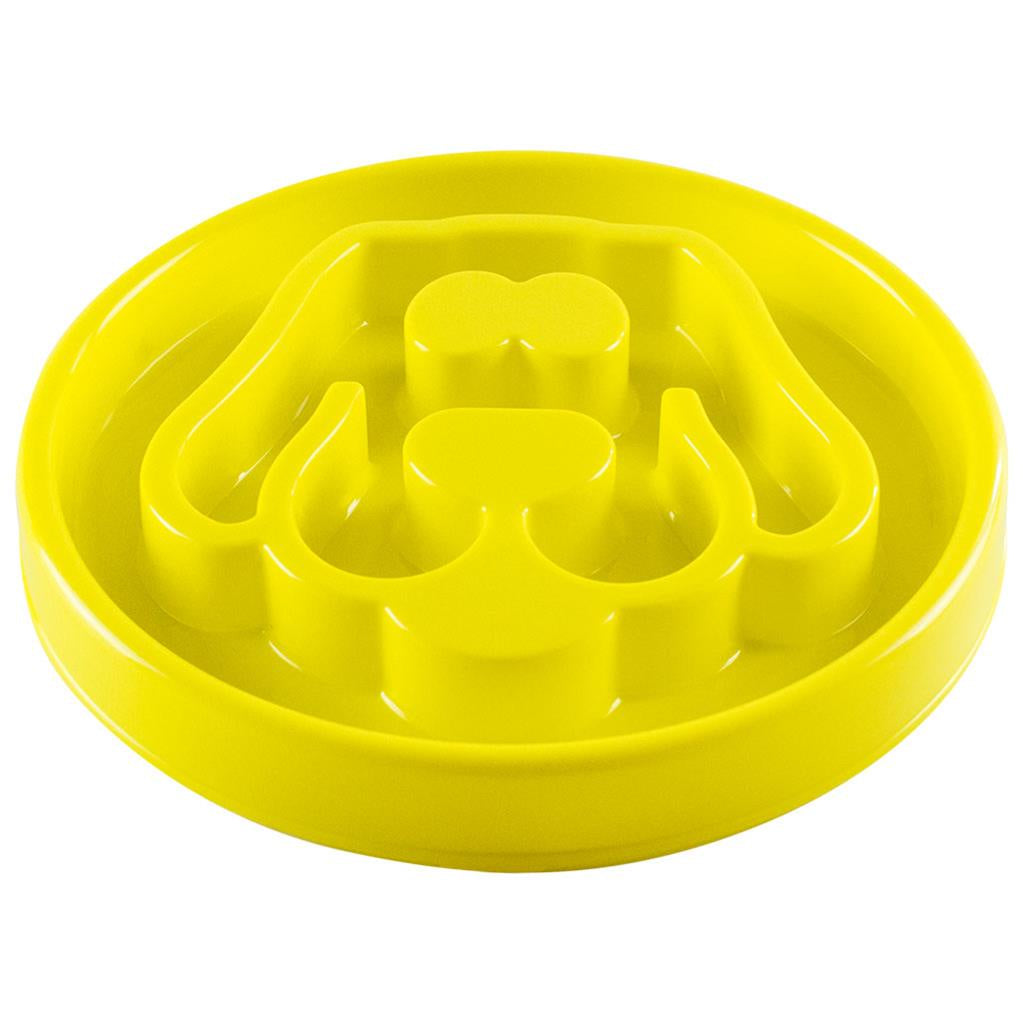 Slow Feeder Yellow Large 12x12""