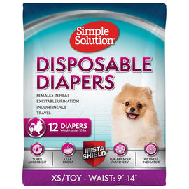 Disposable Female Diapers XSmall/Toy 12PK