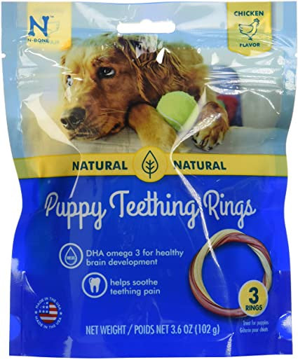 Puppy Teething Ring Chicken Flavor 3 Pack