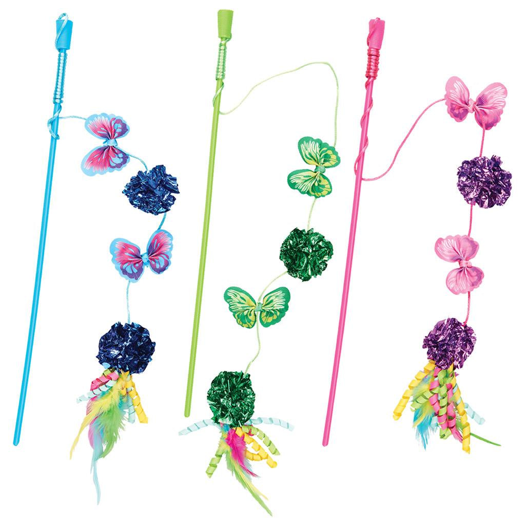 Butterfly & Mylar Wand Assorted