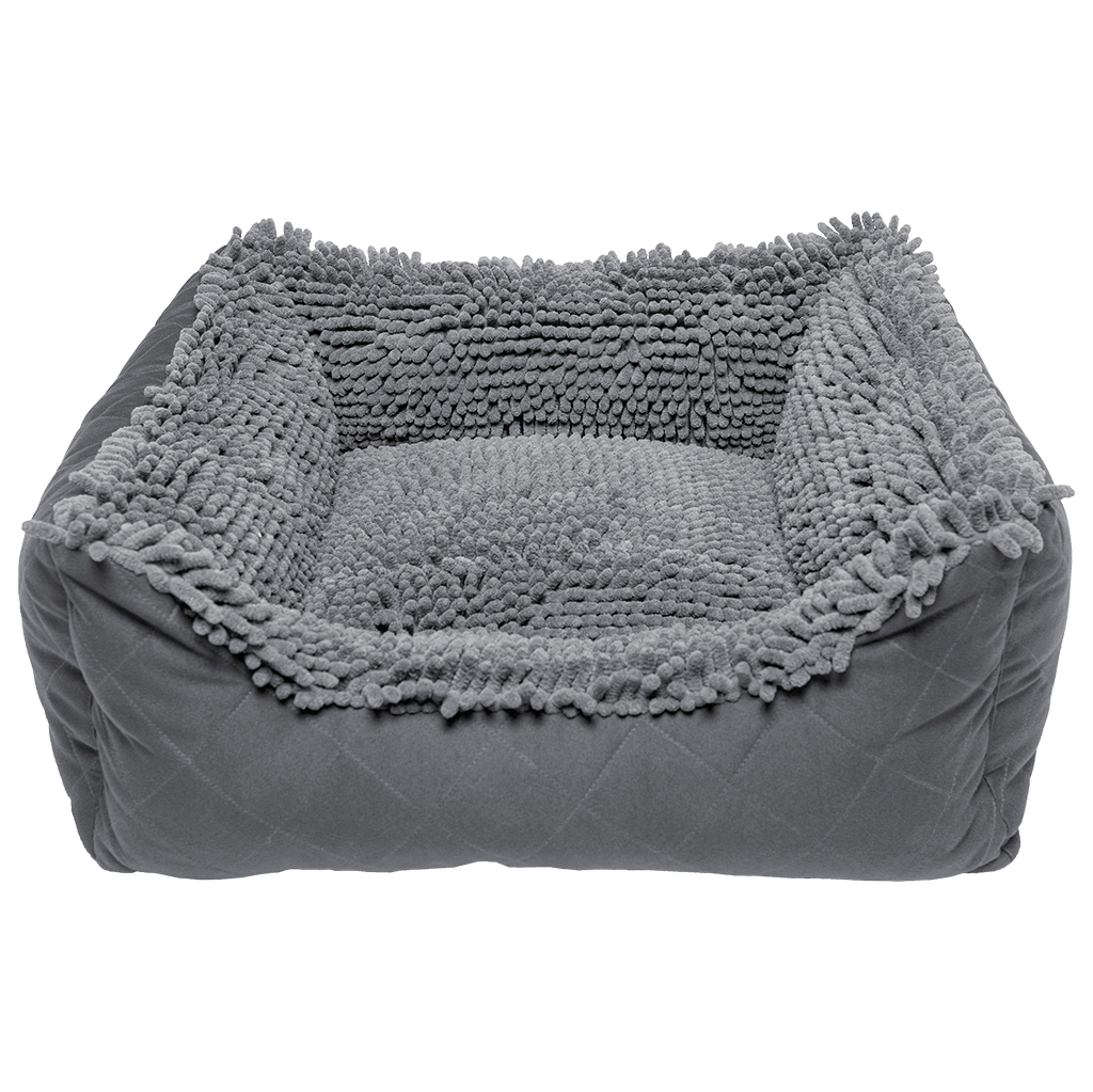 Dirty Dog Lounger Bed Grey 37 x 31""