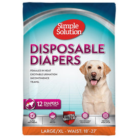 Disposable Female Diapers Large 12pack