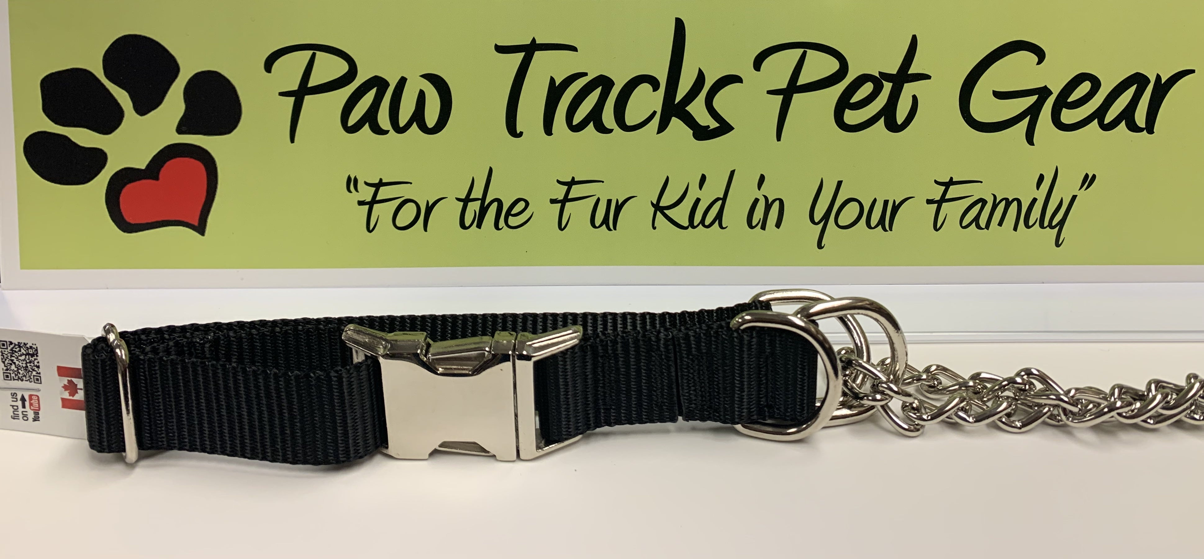 3/4' Martingale Collar (18-23') - Black