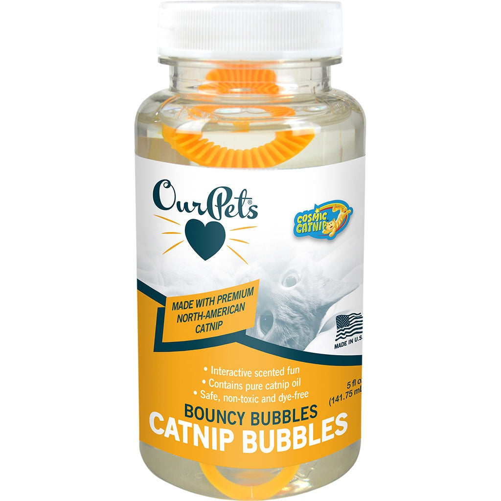 Cosmic Premium Natural Catnip Bubbles 5 oz.