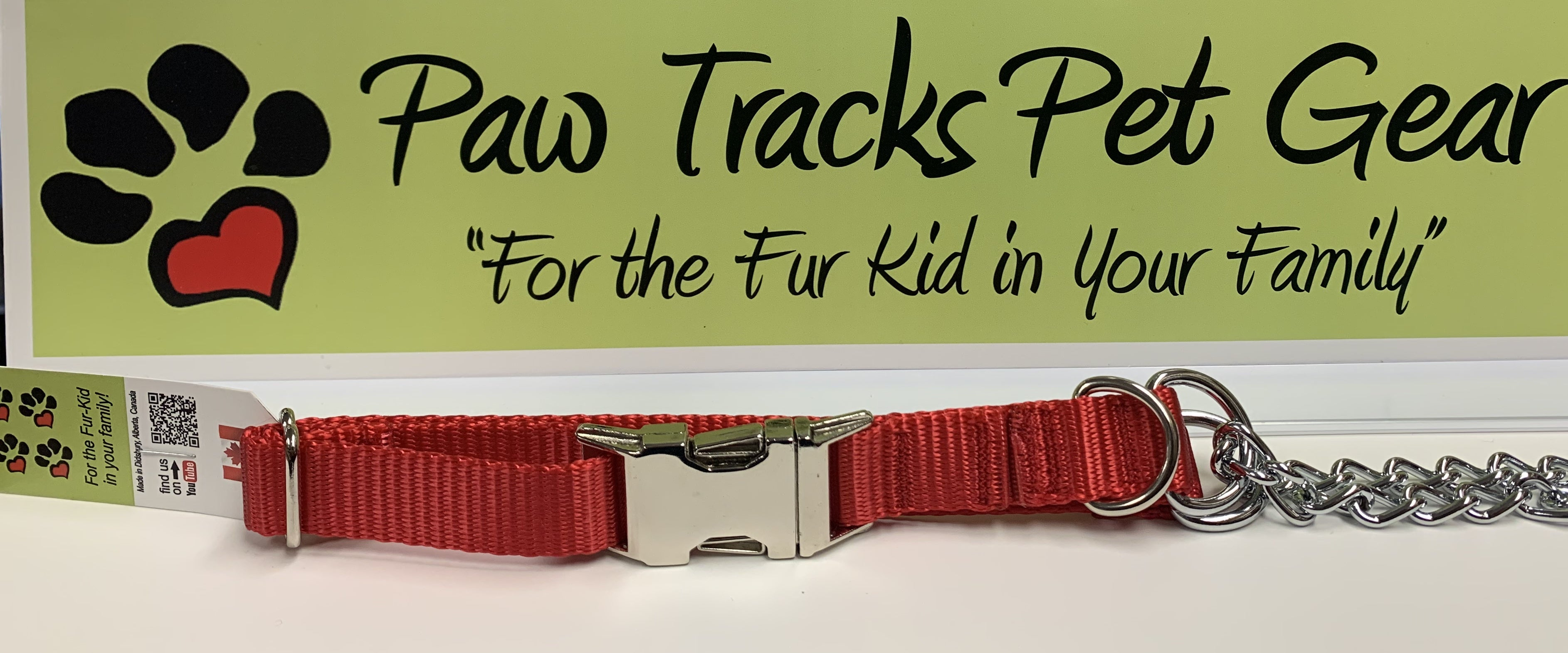 3/4'  Martingale Collar (12-18') - Red