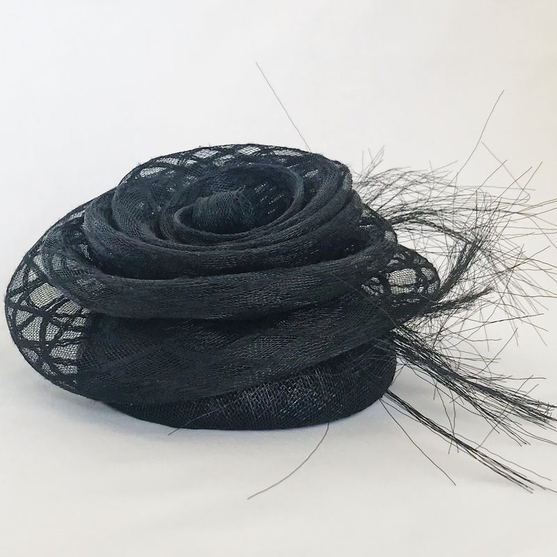 Luxury handmade milliner hat black
