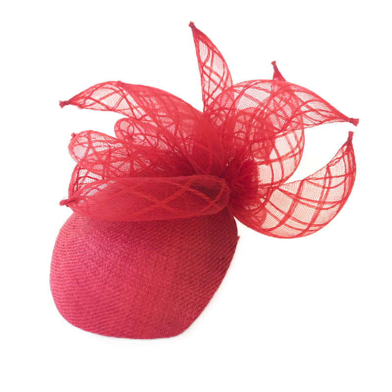 Red womens fascinator hat