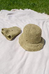 This women's summer bucket hat is made by hand following a careful crocheting technique. It is a very comfortable hat perfect for walking in the city or a day at the beach. It is also perfect for travel and can be rolled up for easy packing. Choose from many colours and enjoy your summertime with this cool hat.