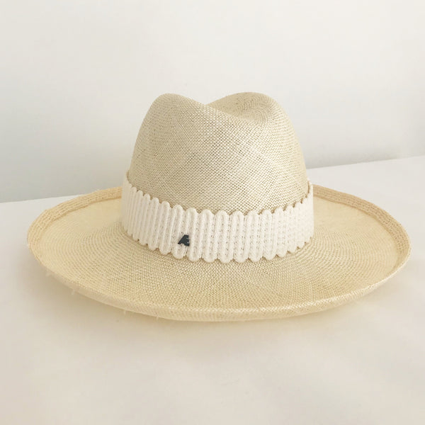 Cream coloured millinery hat