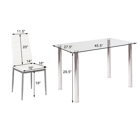 cc329139570 Weight capacity of table 250Lbs · Weight capacity of each chair 300Lbs ·  Package includes  1 x Table  4 x Chairs  1 x Instruction