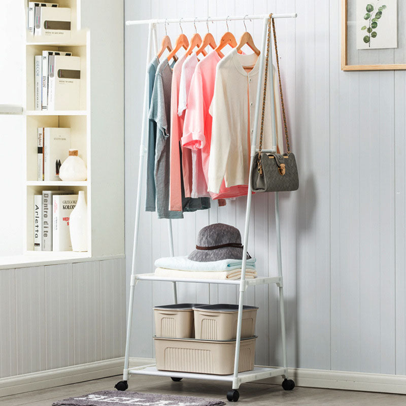Multi-function Triangle Coat Rack Bedroom Hanging Clothes Rack With Wheels