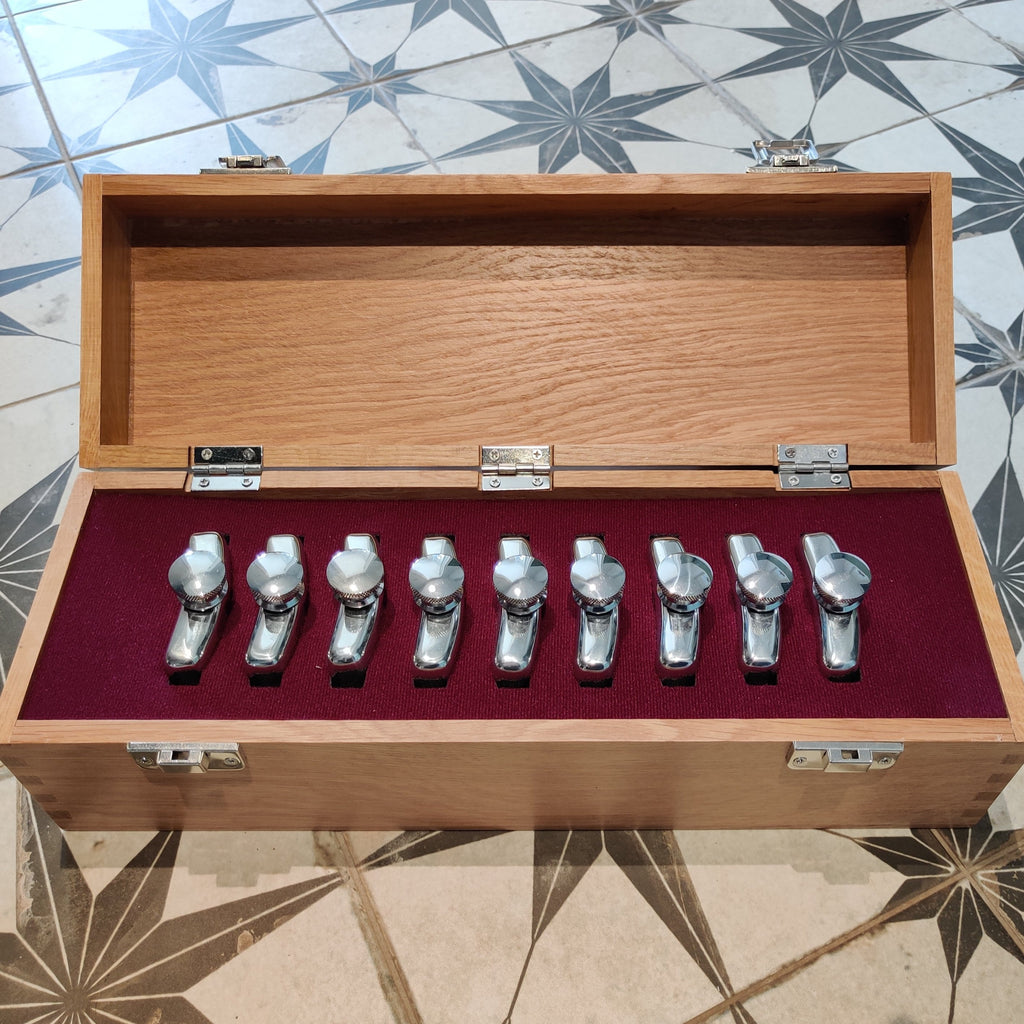 9 Gun Hip Flask Peg Draw Set