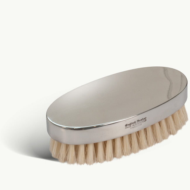 Polished Silver Plated Hair Brush