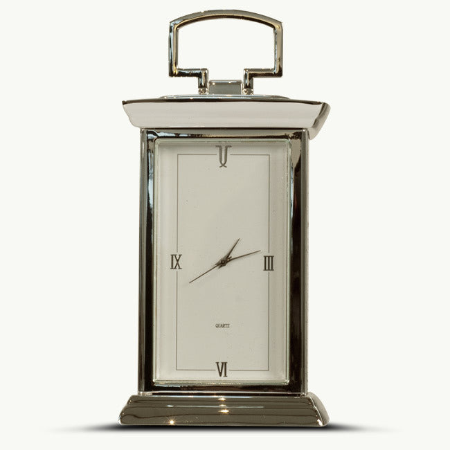 Silver Plated Mantle Clock