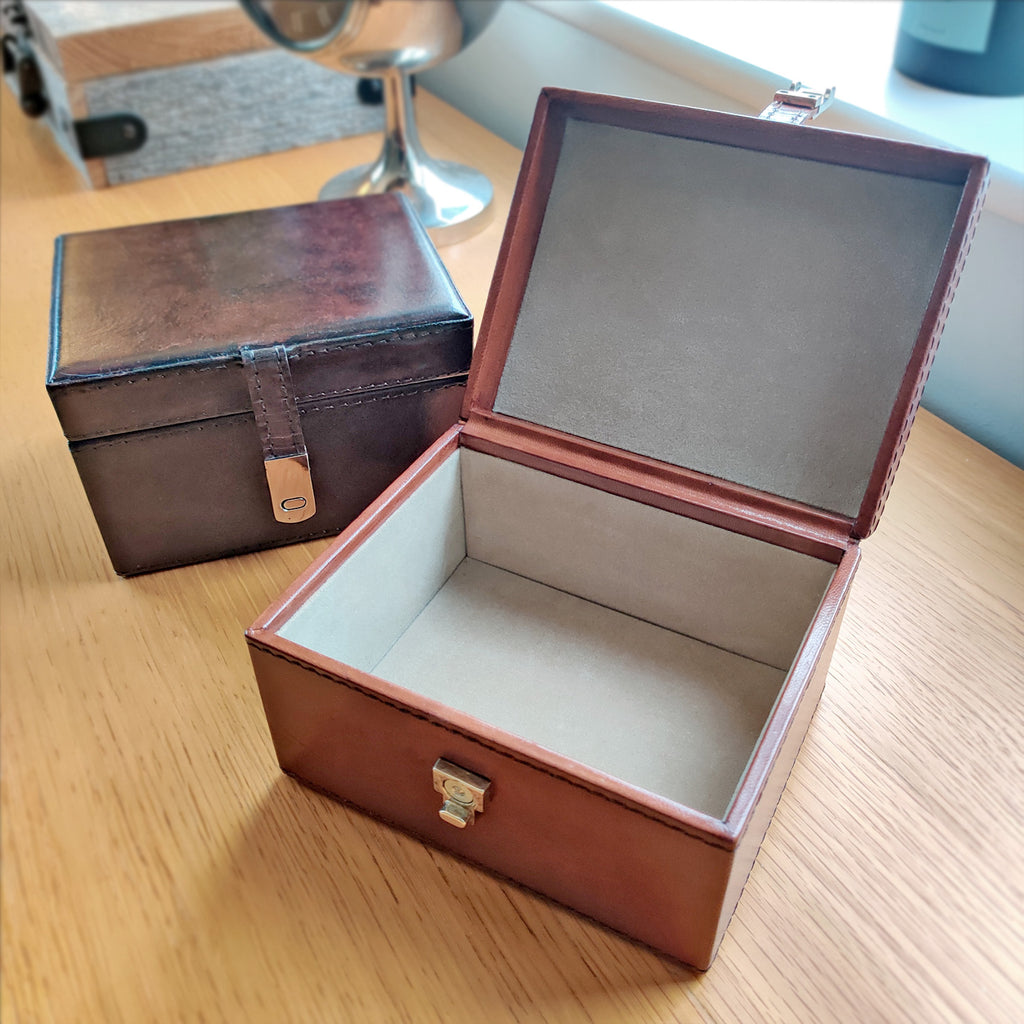 Leather Trinket/Watch box