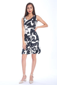 Abstract Fit & Flare Dress