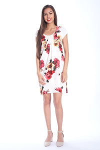 Floral Scoop Neck Shift Dress