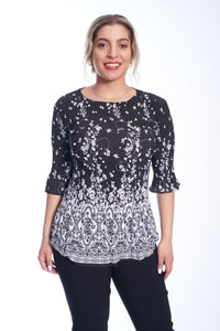 Pleated Border Top