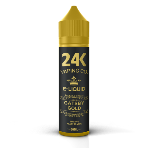 24K E-LIQUID 60ML - GATSBY GOLD (LYCHEE, CITRUS & TROPICAL FRUITS)