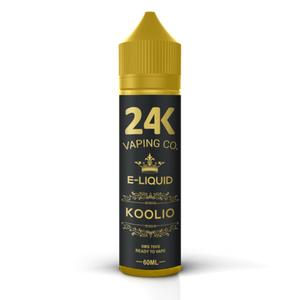 24K E-LIQUID 60ML - KOOLIO (RASPBERRY, MINT GUM AND MENTHOL)