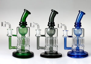 "Heavy 9.5"" Glass Dab Rig Recycler"