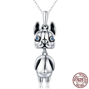 Silver Necklace For French Bulldog-French Bulldog Accessories |EvasDog