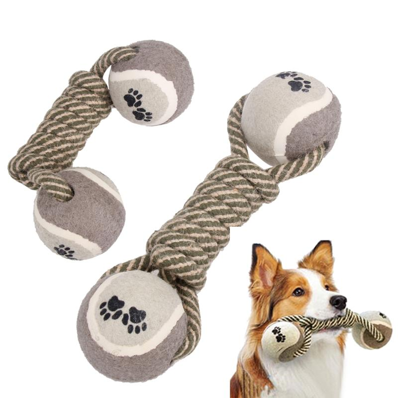 Cotton Dog Rope Chew | Pet Puppy Dog Cotton Rope Chew Toys for Teeth