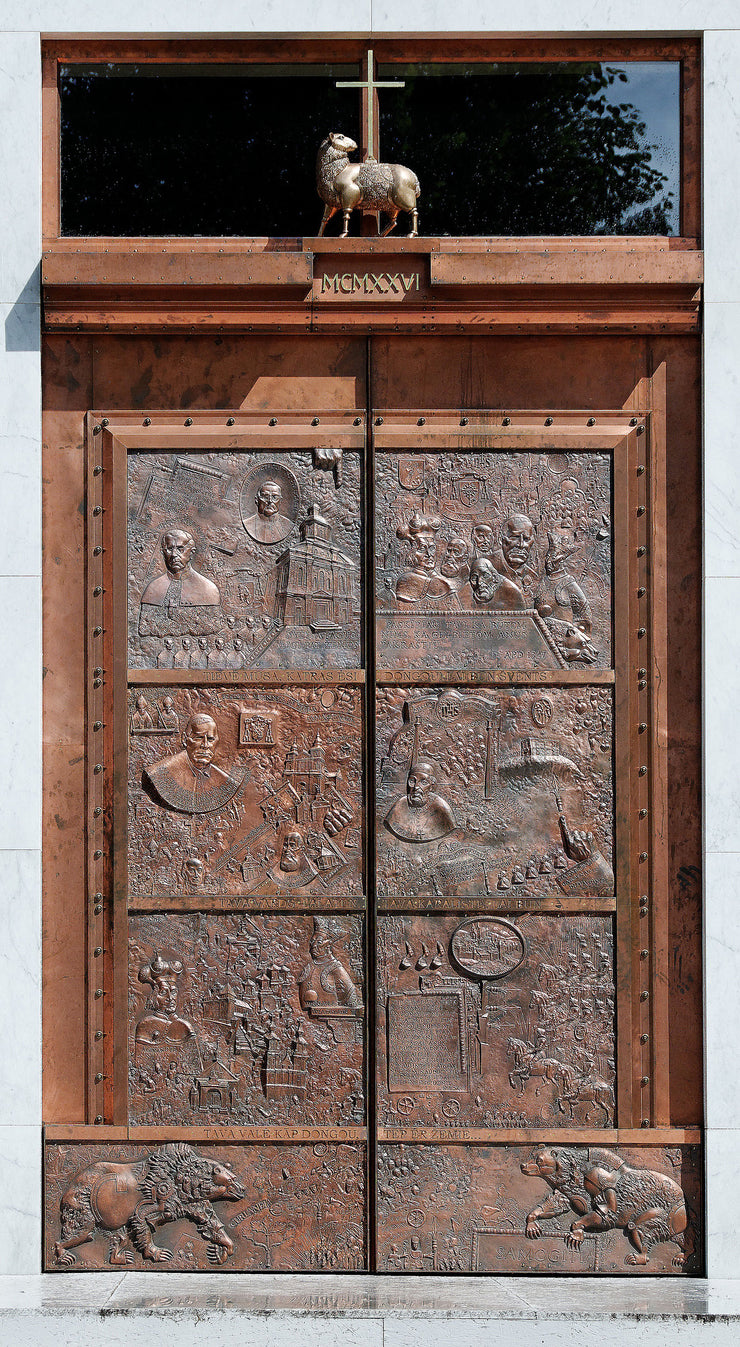In Architecture The Door of the Cathedral of St. Antanas Paduvietis - ROMUALDAS INČIRAUSKAS
