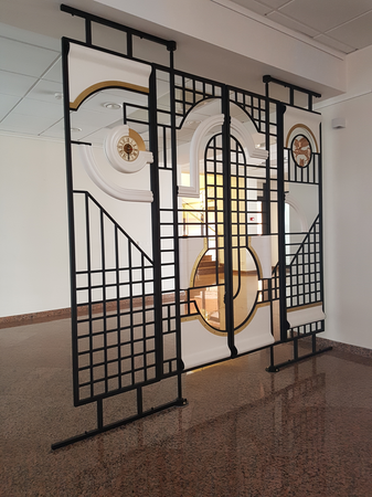 In Architecture Other Spaces, Decorative gates with a clock - ROMUALDAS INČIRAUSKAS