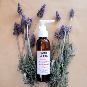 Bare & Co. Organic Hand Sanitizer Gel Lavender 125ml