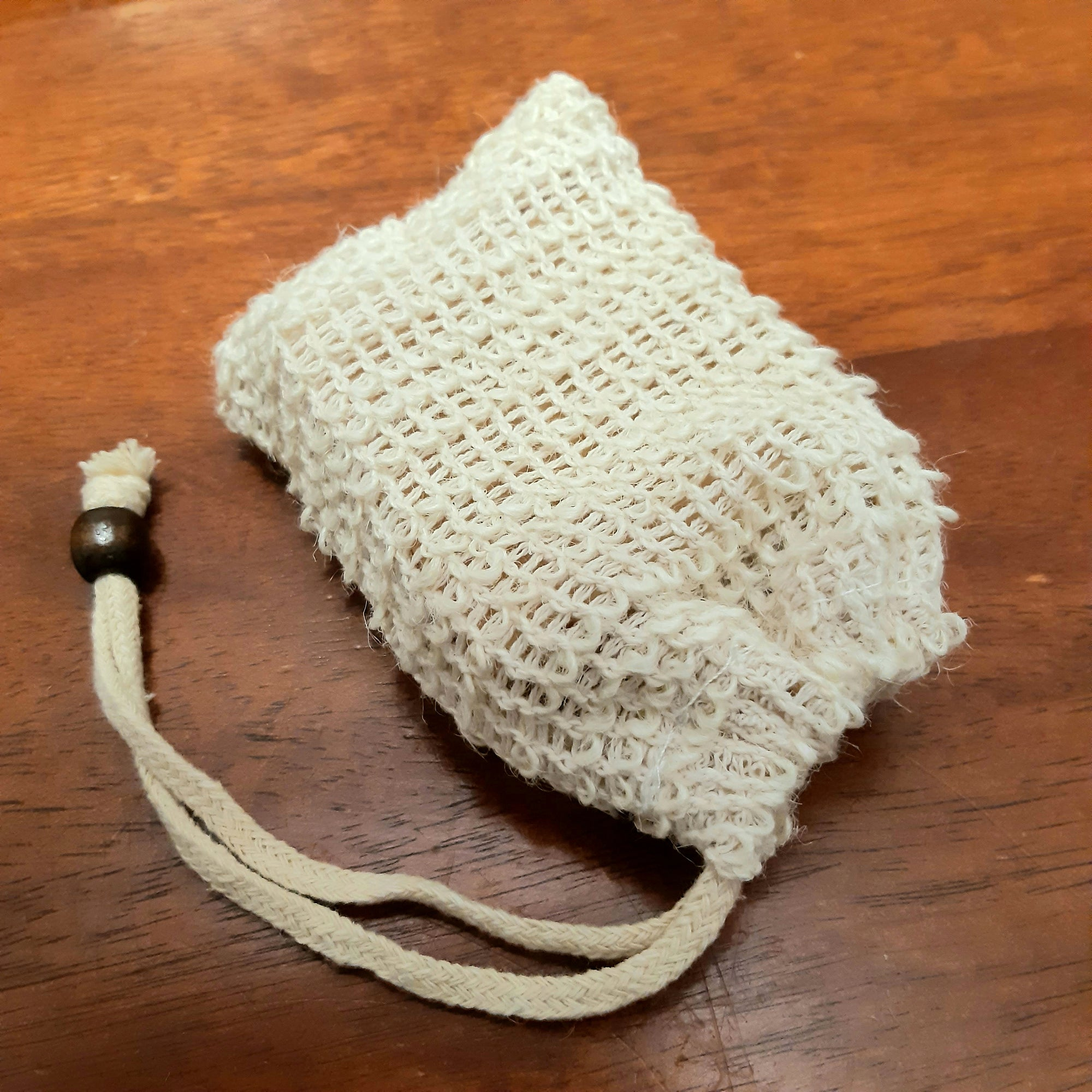 Hemp Knitted Soap Saver Drawstring Bag