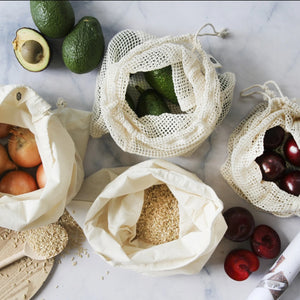Ever Eco Organic Cotton Produce Bag Mixed Set of 4