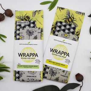 Wrappa Beeswax Food Wrap 3 pack