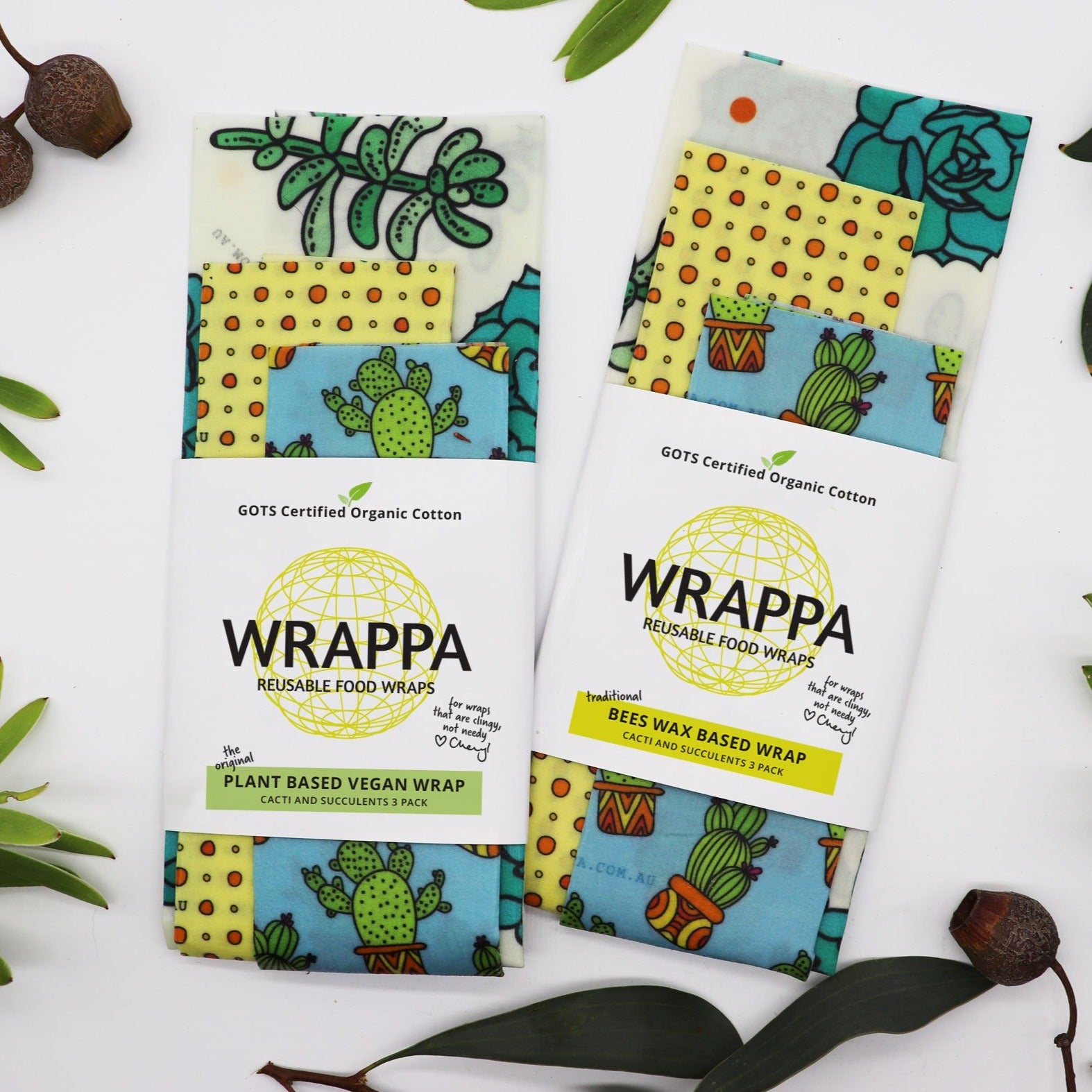 Wrappa Vegan Food Wrap 3 Pack