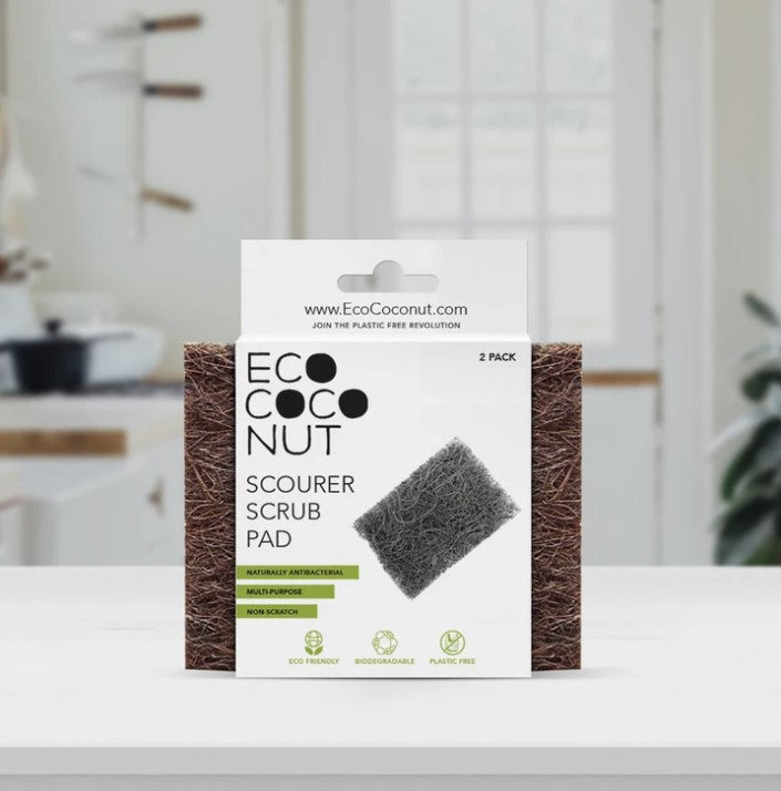 EcoCoconut Scourer Scrubbing Pad 2 Pack