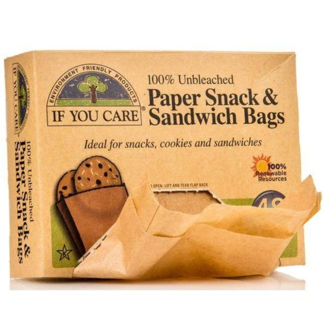 If You Care Paper Snack and Sandwich Bags 48pk