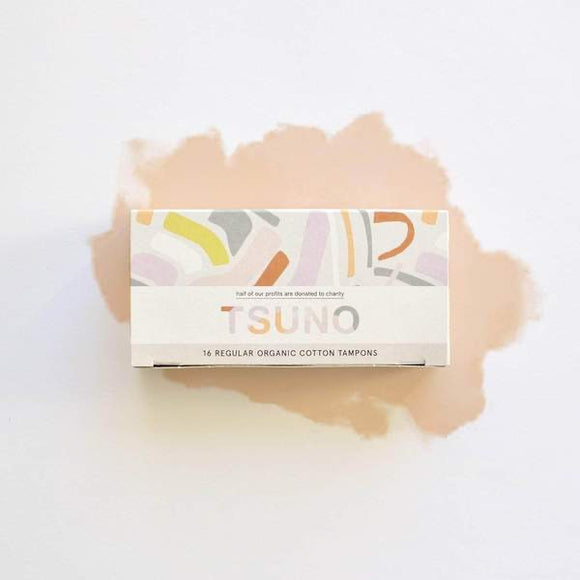 Tsuno Organic Cotton Tampons regular 16pk