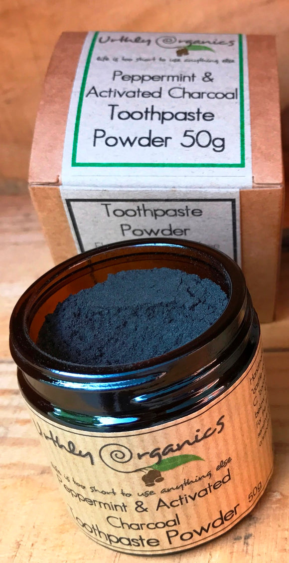 Urthly Organics Peppermint & Charcoal Toothpaste Powder