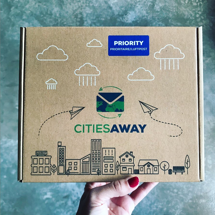 Cities Away is a monthly pen pal connection box that sends you items and gifts to make new friends. We send out a different box every month with fun, unique items!