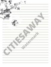 Load image into Gallery viewer, November Writing Paper - CitiesAway
