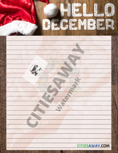 December - Writing Paper set (11 sheets)