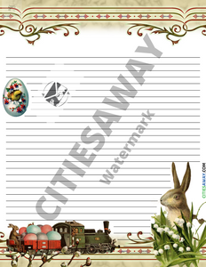 April - Writing Paper set (10 sheets)