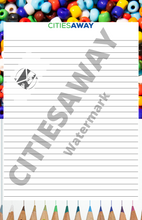 Load image into Gallery viewer, Colorful Grace - Writing Paper set (5 sheets)
