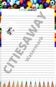 Colorful Grace - Writing Paper set (5 sheets)