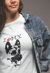 I Love My German Shepherd - T-Shirt