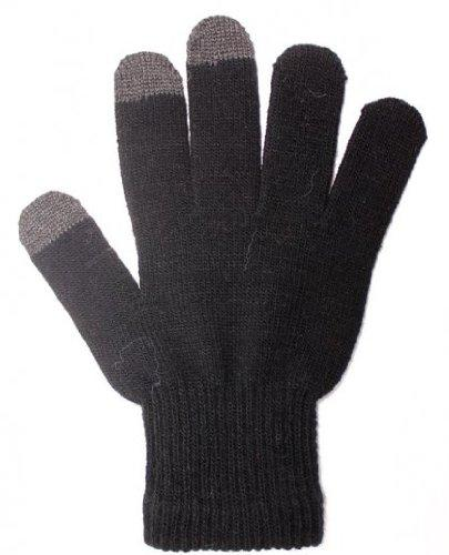 Warm and Snug Touch Screen Gloves-Black/Gray